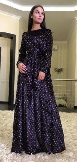 Платье SML велюр горох, цвета разные