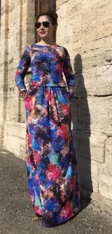 Платье цветы на резинке