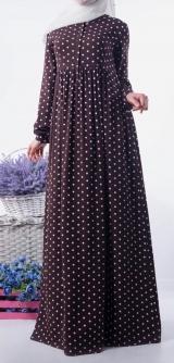 Платье Ламис горох штапель