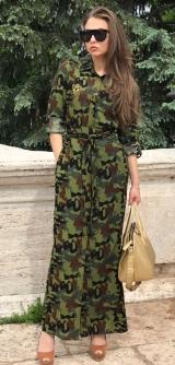 Платье-рубашка Милитари