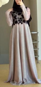 Платье с люрексом беж
