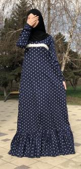 Платье хлопок - горох