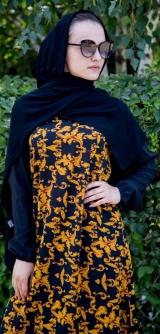 Платье ниагара желтый узор