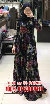 Платье дубайский штапель шёлк розы