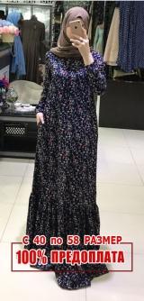 Платье штапель одуванчики