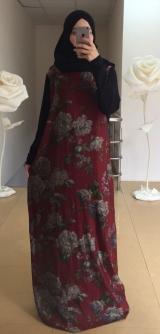 Платье дубайский шелк розы