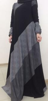 Платье абайная полоска 40-58