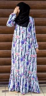 Платье с воланом Роза