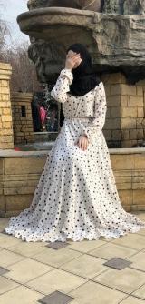 Платье штапель звездочки
