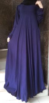 Платье штапель горошек синее
