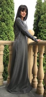 Платье стретч серое