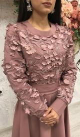 Платье лепестки капучино
