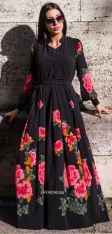 Платье 3Д принт черное