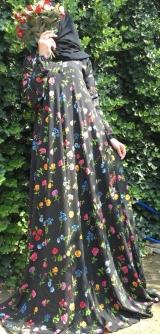Платье креп-шифон полевой цветок