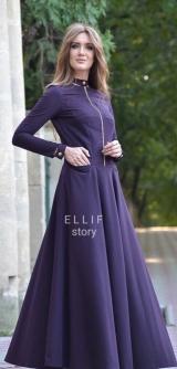 Платье Ремешок темный фиолет