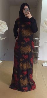 Платье дубайский шелк мазня