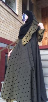 Платье абайное горох 40-58