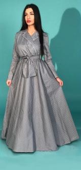 Платье хлопок серое