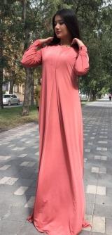 Платье трикотаж масло рыжик