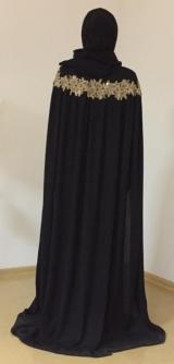 Платье-кейп черное
