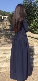 Платье костюмка синее