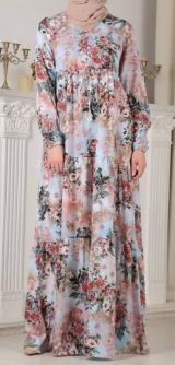 Платье штапель-шелк цветы