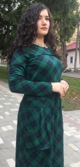 Платье клетка зеленое