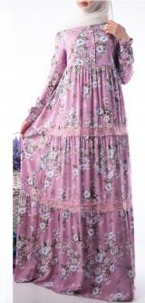 Платье Лотос цветы с кружевами