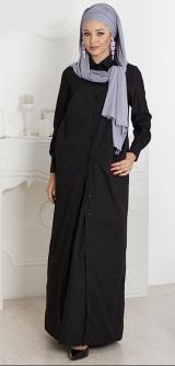 М516/1 Платье-халат черное