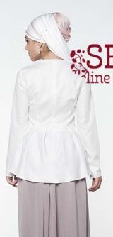 Блуза М277 белая хлопок