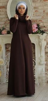"""М152 Платье """"Базовое"""" коричневое"""