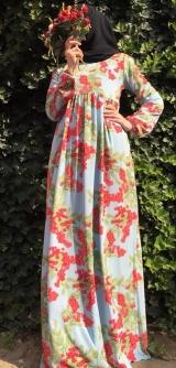 Платье креп-шифон рябина