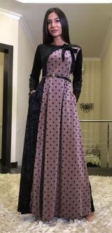 Платье горох велюр