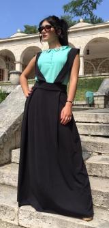 Сарафан-юбка черная