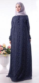 Платье :«Наима» синее горох