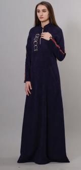 Платье GUCCI микровельвет изумруд