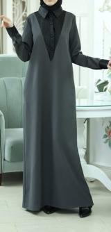 Платье - классика барби серое