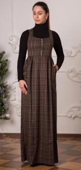 Сарафан - костюмная ткань.