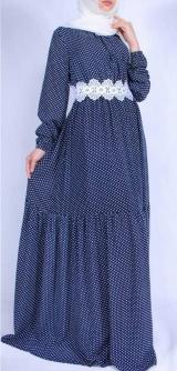 Платье с ярусом горох