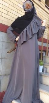 Платье абайное беж 40-58