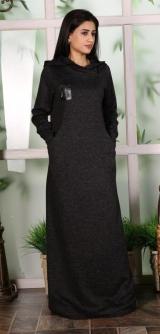 Платья Меланж черное