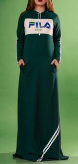 Спортивное платье FILA зеленое