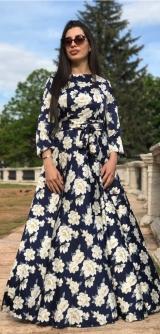 Платье шелк цветочный принт