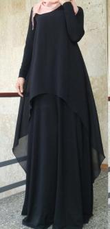 Платье черное Зебра