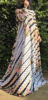 Платье креп-шифон полосочка