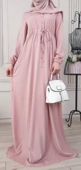 Платье софт рубчик полоска