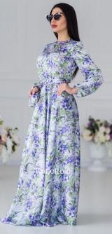 Платье шелк Лаванда