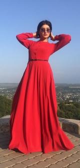 Платье красное софт