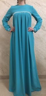 Платье софт бирюза