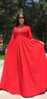 Платье Розали красное
